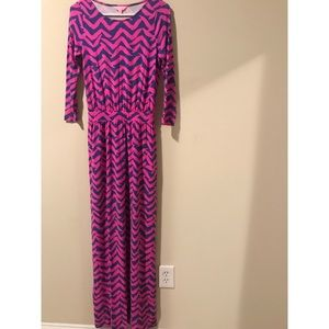 Lilly Pulitzer Pink & Blue Maxi. XS